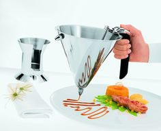 Rosle - Manufactures durable and superior quality kitchen utensils, cooking tools and cookware gadgets with attention to design and superb performance for the professional chef and home cook. Baking Gadgets, Raspberry Sauce, Interior Design Boards, Quality Kitchens, Kitchen Essentials, Cooking Tools, Confectionery, Food Presentation, Food Plating