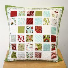 mini charm pack cushion