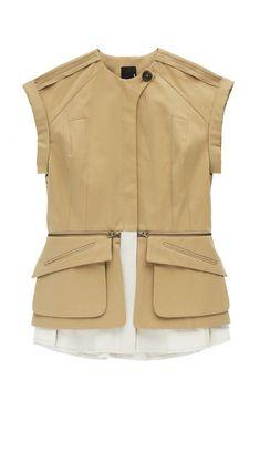 177 Kimono Sleeve Safari Jacket with Detachable Pockets - Ethel Fashion Styling Life
