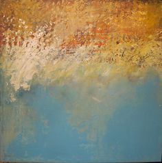 """Seeking Refuge,"" 24x24 inches, plaster, oil, and cold wax by Dayna J. Collins. http://alleyartstudio.com"