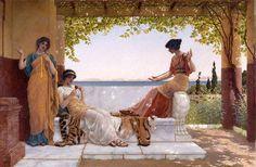 On the Balcony (John William Godward - )