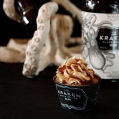 Rum and Coke Cupcakes, made with The Kraken Black Spiced Rum - perfect for a 21st celebration, or any occasion! Easily made Gluten-Free