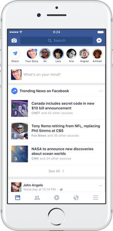 Update on Facebook Trending