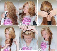 passo a passo de como arrumar os cabelos para ir para a escola