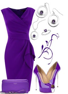 The most amazing purple fashion. I heart it! Komplette Outfits, Fashion Outfits, Womens Fashion, Casual Outfits, Purple Fashion, Look Fashion, Simply Fashion, Purple Dress, Passion For Fashion