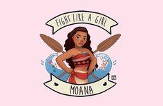 Fight like a girl. Moana by Kaol Porfírio