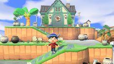my summer themed house exterior Animal Crossing Guide, Animal Crossing Villagers, Animal Games, My Animal, Disneyland, Theme Nature, Ac New Leaf, Island Design, House Layouts