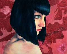 """Self-Portrait"" Mixed Media on Board. 100cm x 81cm  https://www.facebook.com/korartkmr"
