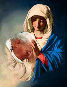 Mary and Pope John Paul ll. I love this so much, so powerful