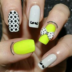 Mustache and polka dots