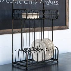 Here's the perfect combination of utilitarian and decorative, all in one rustic modern piece! This piece stands proudly on your counter or island, and also can