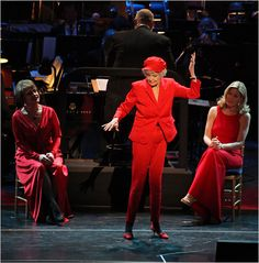 """Elaine Stritch, all of 85, performing """"I'm Still Here"""" for Stephen Sondheim's 80th Birthday."""