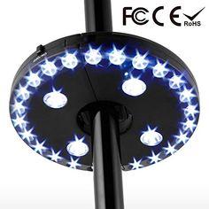 ICYMI: Lampe pour Parasol de Jardin, lampe d'ombrelle avec 28 ampoules LED, lampe fixé sur pied ou être suspendue, 3 mode de switch pour…