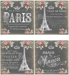 NeW! VinTaGe PaRis EiFFeL ToWeR LaBeLs ShaBby WaTerSLiDe DeCALs | Crafts, Home Arts & Crafts, Decorative & Tole Painting | eBay!