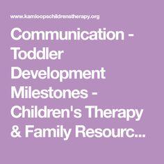 Communication - Toddler Development Milestones