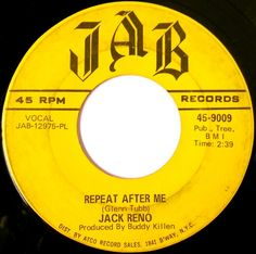 """Ultimate Twangblog remember #JackReno's only top ten hit, """"Repeat After Me"""" from 1968. Read more at http://ultimatetwang.com. Join me, Thursdays 4p ET on AshevilleFM, at 103.3FM in Asheville or online, worldwide at http://ashevillefm.org. And if you can't listen live, beginning Friday morning you can hear the archived version at http://ashevillefm.org/ultimate-twang. #countrymusic  #countrymusicsinger #music  #countryoldies  #oldcountrymusic  #countrymusichalloffame #singer #classiccountry"""