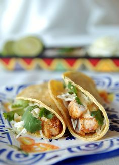 Fish Tacos - This is one of those things that I thought I would never like.  But I LOVE fish tacos, the fish taco sauce is to die for!