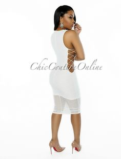 Chic Couture Online - Madrid White Ribbed CrissCross Sides Dress, (http://www.chiccoutureonline.com/madrid-white-ribbed-crisscross-sides-dress/)