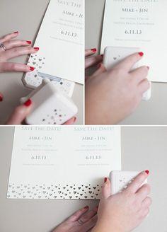 idée de bricolage carte d'invitation mariage blanc, faire part creatif en blanc