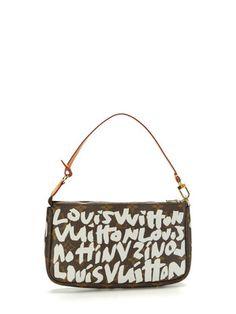 4b7447f21eef Louis Vuitton Monogram Silver Graffiti Pochette Louis Vuitton Accessories