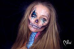Halloweenpainting Mirjam Munstein  Glow Clown, Makeup, Halloween