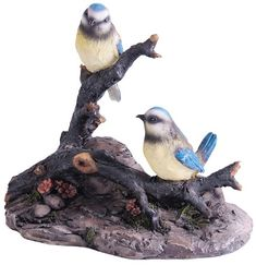 KelKay 4458 Blue Titmouse Birds On A Log -- You can get additional details at the image link. (This is an affiliate link) #GardeningAccessories