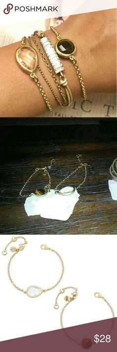 Chloe and Isabel bracelet SET!!!! Gold toned. Clear and tiger eye center. So adorable together and dainty!! Perfect for the summer feel!   **make an offer*** Chloe + Isabel Jewelry Bracelets