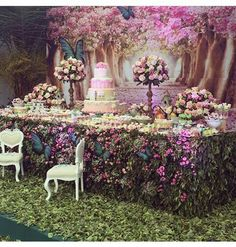Eid decoration, eid mubarak, eid party city, why is eid celebrated, eid today Garden Birthday, Fairy Birthday, Birthday Decorations, Wedding Decorations, Forest Party, Deco Floral, Alice In Wonderland Party, Enchanted Garden, Enchanted Forest Theme