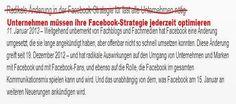 Achtung: Unternehmen müssen jederzeit auf Facebook optimieren!  #Facebook #Strategie #AKOM360