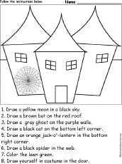 Cute Halloween worksheet for kids to do.                                                                                                                                                                                 More