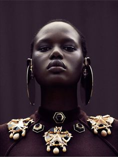 Model Ajak Deng, photographed by Julia Noni