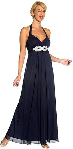 Halter Top Full Length Formal Prom Dress