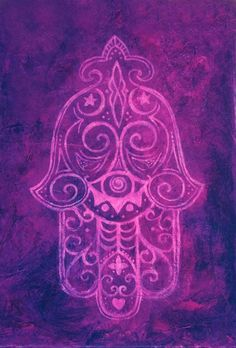 Hamsa in Purple Art Print