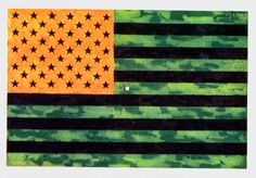 Jasper Johns Flag. Stare at it for 30 seconds...