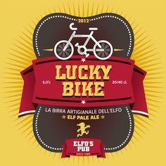 Lucky Bike ELFO'S BEER label