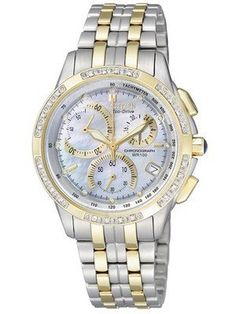 827380e1060 Citizen Eco-drive Chronograph Genuine Diamonds FB1096-51D FB1096 Womens  Watch