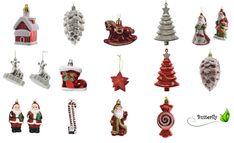 2 Christbaumschmuck Figuren Kunststoff Anhänger Weihnachtsschmuck Glitzer | eBay