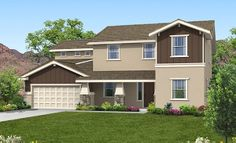 The Bellagio | Plan 2982 with accent brown exteriors!