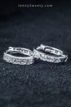 Sterling Silver Zircon Cartilage Earrings Helix Piercing Tragus Earrings Tragus jewelry