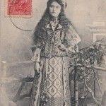 Romanin girl in her splendid traditional costume in 1909