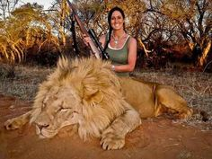 """""""An incredible day hunting in South Africa! Stalked inside 60 yards on this beautiful male lion…what a hunt!""""   Why Killing A Lion Is The Most Cowardly Thing You Can Do"""
