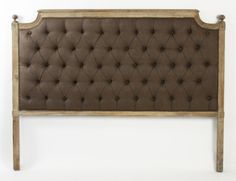 Zentique Inc. Louis Upholstered Headboard $854.10 : I like the wood trim idea but not the color, and not the price!