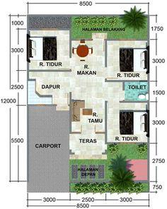 Hasil gambar untuk bentuk rumah minimalis modern 1 lantai