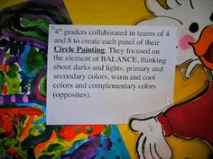 Fine Lines: Circle Paintings on a Windy Day Circle Painting, Primary And Secondary Colors, Warm And Cool Colors, Elements And Principles, Windy Day, Light In The Dark, Southern California, Projects To Try, Paintings
