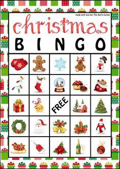 Christmas Bingo- Free Printable | Christmas bingo, Free printable ...