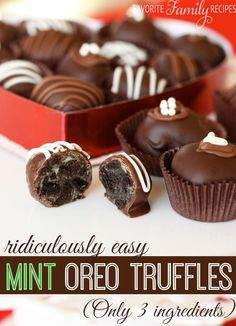 Ridiculously Easy Mint Oreo Truffles