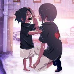 Hermanos by Arumy.deviantart.com on @DeviantArt - Uchiha Sasuke and Itachi aww...so cute...
