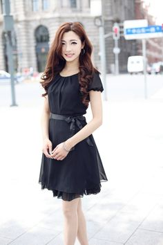 [Daglig spesiell Godkjenning] springen klaring Koreanske Kvinner Slim chiffon skjorte skjørt sommer chiffonkjole - Taobao Spring, Black, Dresses, Fashion, Vestidos, Moda, Black People, Fashion Styles, Dress