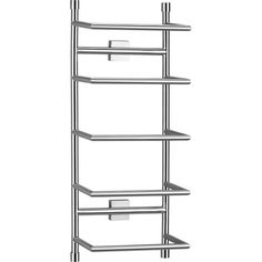 "Brushed Steel Wall Mount Towel Rack in Bath at Crate and Barrel, $69.95 (Width: 9.5"" Depth: 6"" Height: 27.5"")"