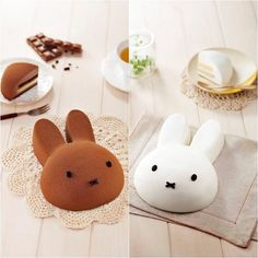 [ Arome Bakery (東海堂) X miffy ] Lovely miffy mousse cake is now available in two flavours, Chocolate and Vanilla at each. Check them out at 東海堂 (Arome Bakery) Bunny Birthday, Baby First Birthday, Birthday Cakes, Miffy Cake, Mousse Cake, Pastry Cake, Cute Cakes, Creative Food, Cake Cookies